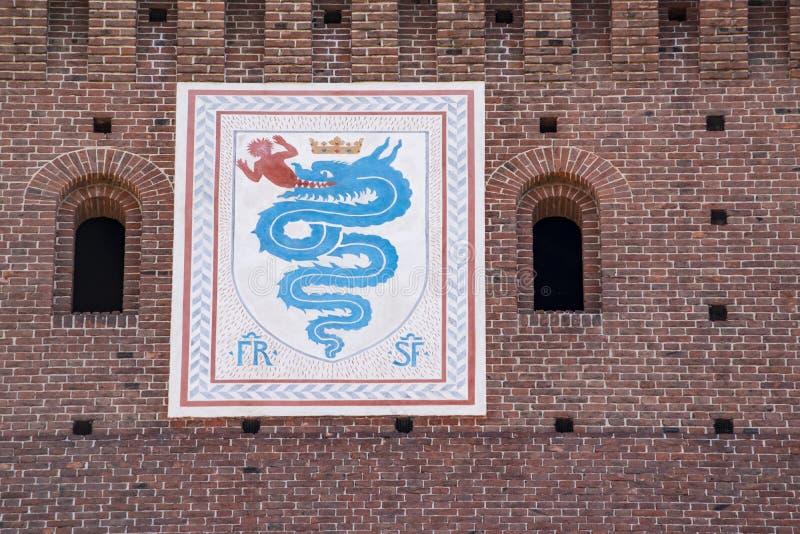 emblema de la casa de Visconti imagenes de archivo