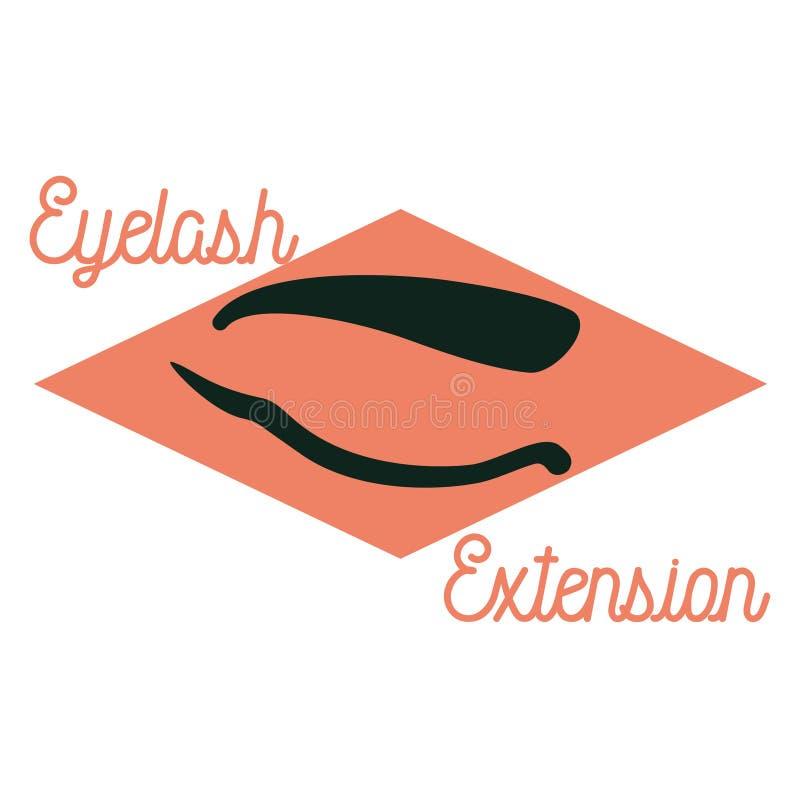 Emblema de la extensión de la pestaña del vintage del color stock de ilustración