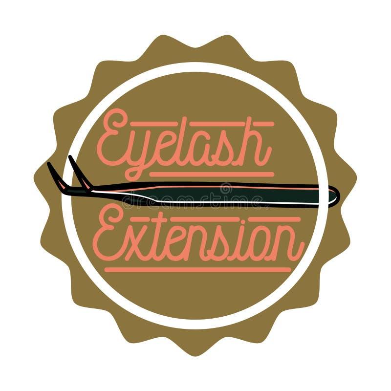 Emblema de la extensión de la pestaña del vintage del color ilustración del vector