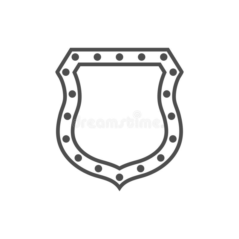 Emblema de la forma del icono del escudo libre illustration