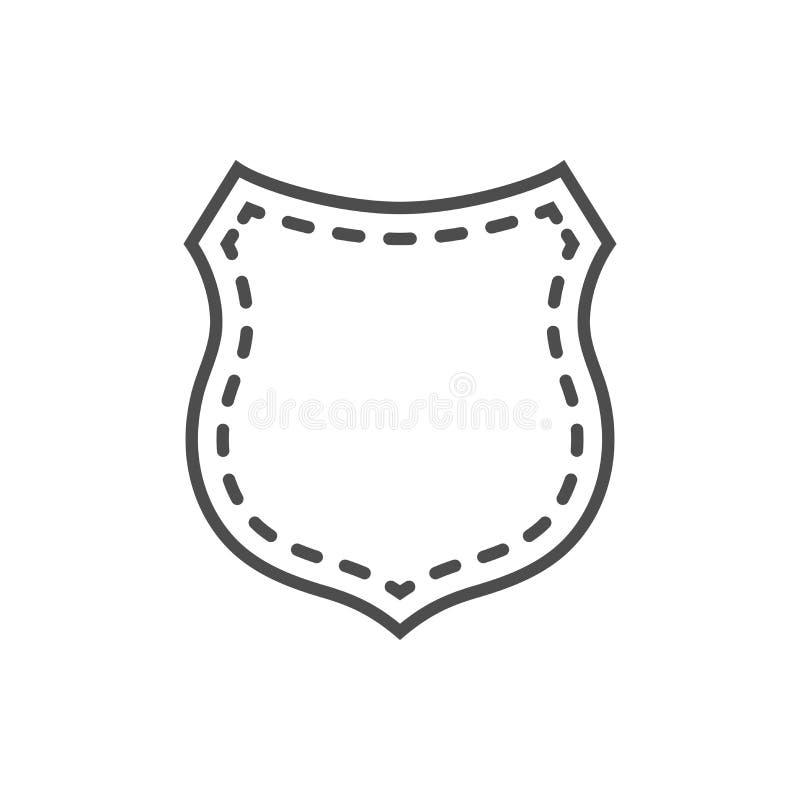 Emblema de la forma del icono del escudo ilustración del vector