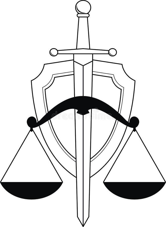 Download Emblema De La Justicia - Blindaje, Espada Y Escalas Imagenes de archivo - Imagen: 20694314