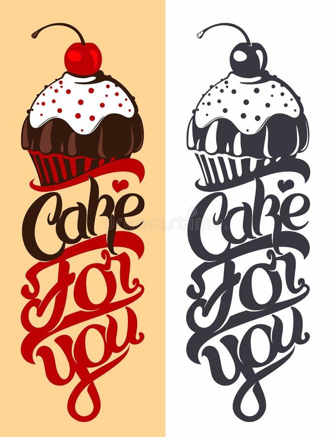 Emblema de la torta ilustración del vector