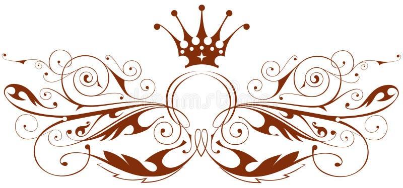 Emblema de la vendimia del vector stock de ilustración