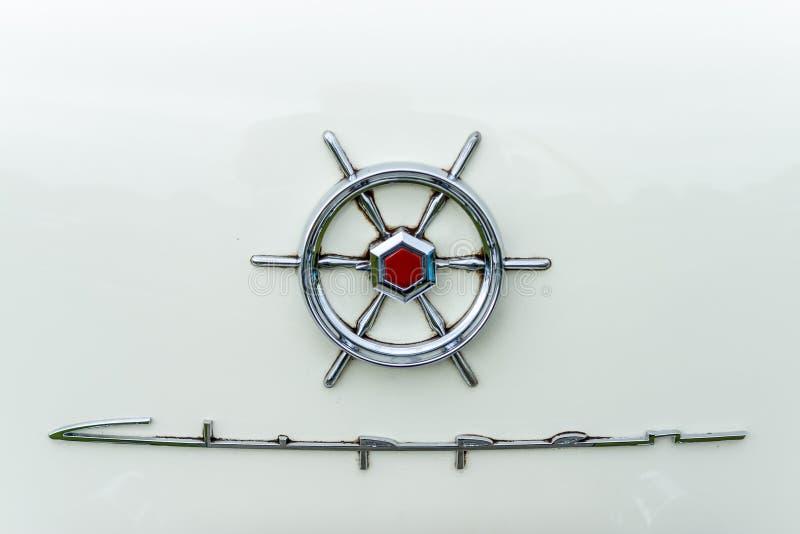 Emblema de las podadoras DeLuxe, 1956 de Packard imagen de archivo libre de regalías