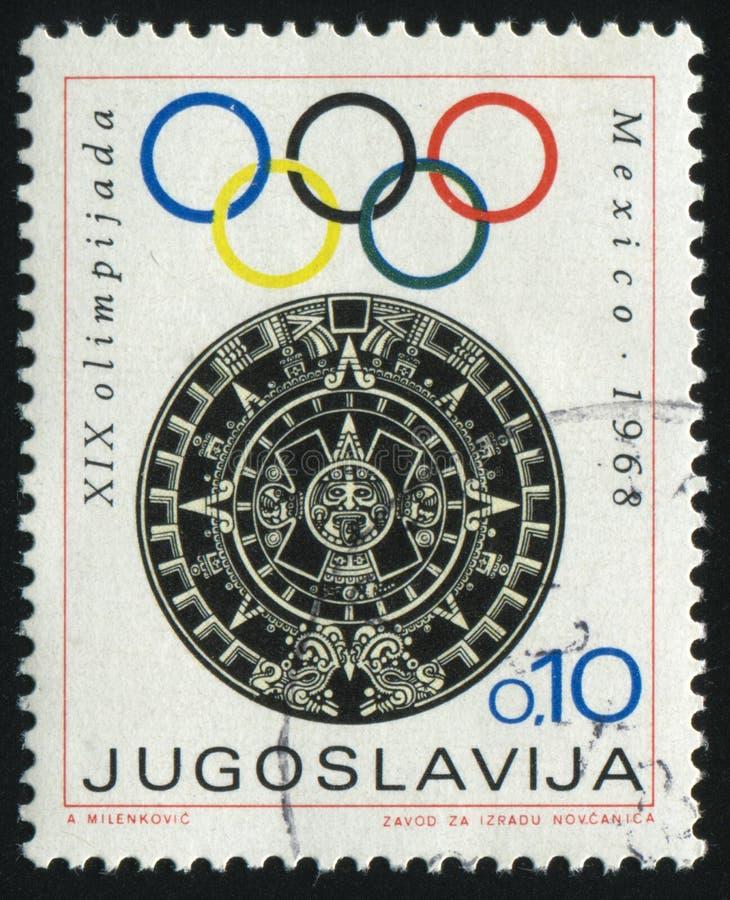 Emblema de los Juegos Olímpicos fotos de archivo