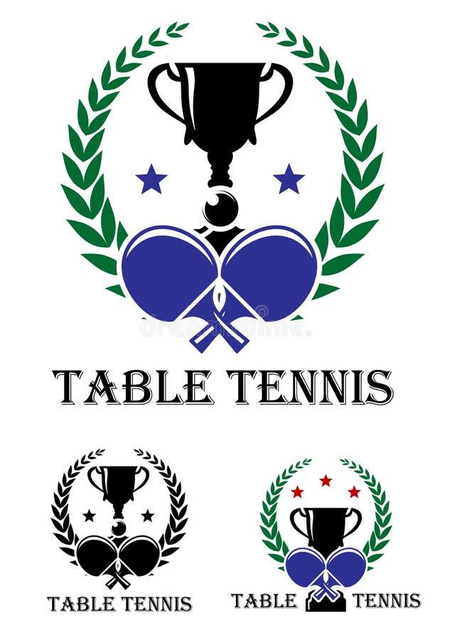 Emblema de los tenis de mesa stock de ilustración