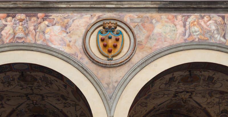 Emblema de Medici - Florença fotografia de stock royalty free