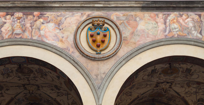 Emblema de Medici - Florencia fotografía de archivo libre de regalías