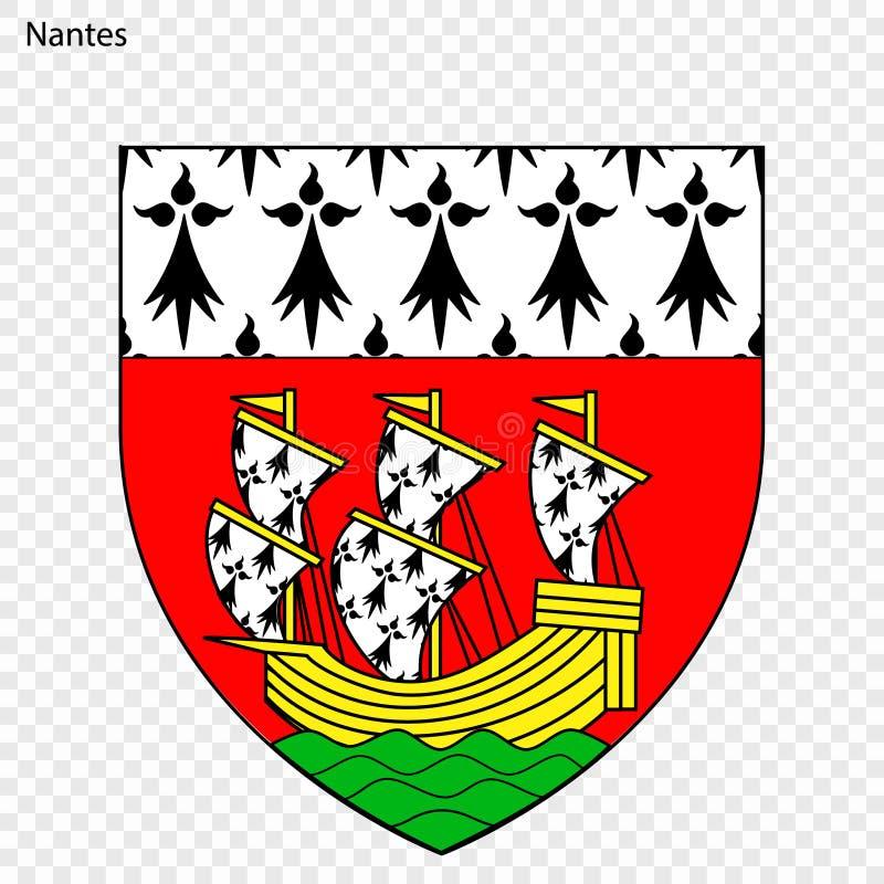 Emblema de Nantes ilustração do vetor