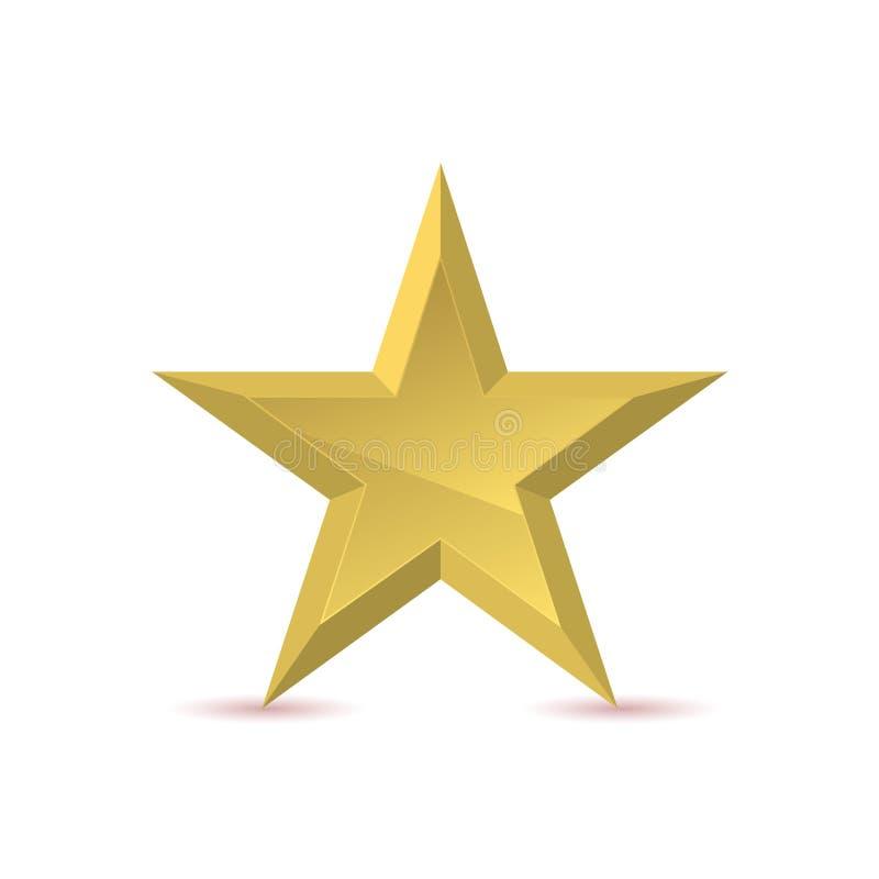 Emblema de oro de la estrella libre illustration
