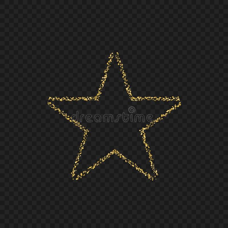 Emblema de oro de la estrella stock de ilustración