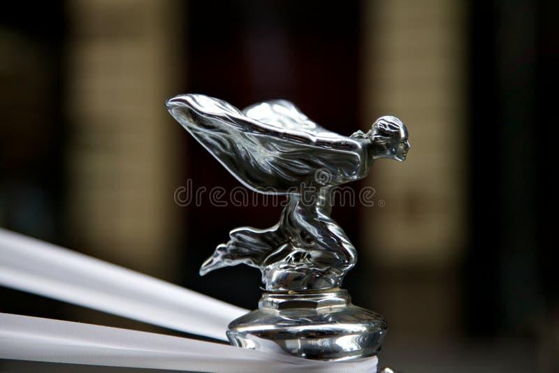 Emblema de rolls royce no carro fotografia de stock royalty free