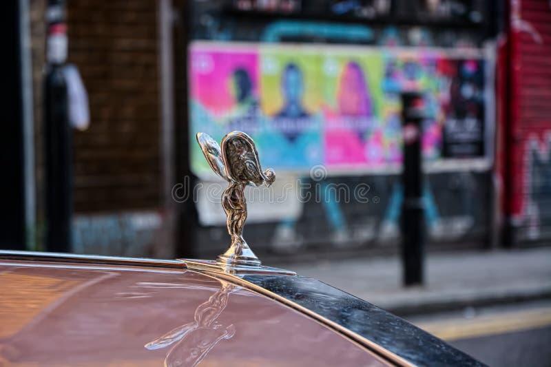 Emblema de Rolls Royce Silver Spirit fotografia de stock royalty free