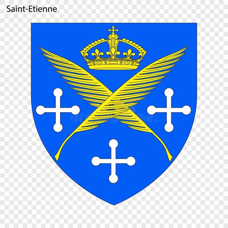 Emblema de Saint Etienne ilustração stock