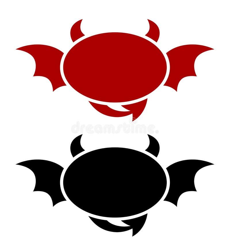 Emblema de un estilo del demonio libre illustration