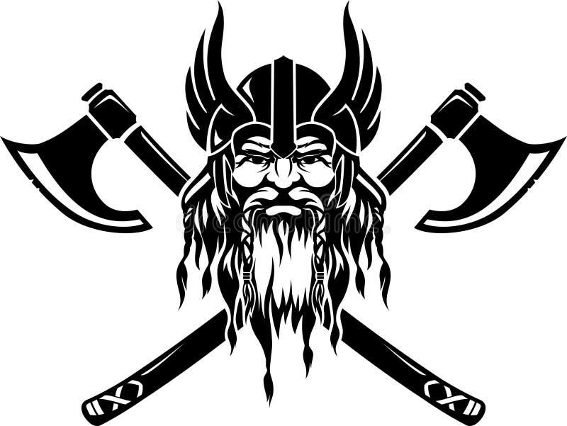 Emblema de Viking stock de ilustración