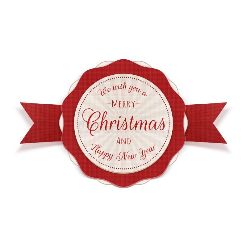 Emblema decorativo del círculo de la Feliz Navidad libre illustration