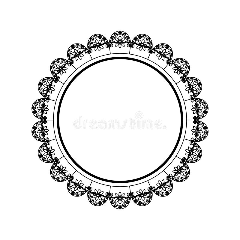 Emblema decorativo del cerchio illustrazione vettoriale