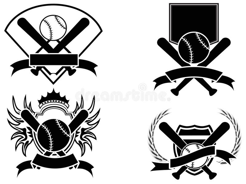 Emblema del béisbol ilustración del vector