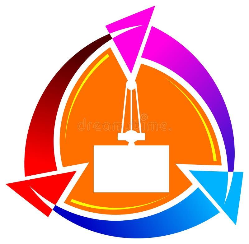 Emblema del carico illustrazione di stock