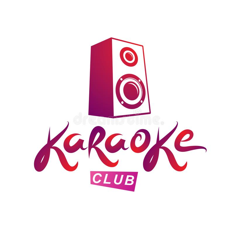 Emblema del club del Karaoke compuesto usando el ejemplo del vector del subwoofer libre illustration