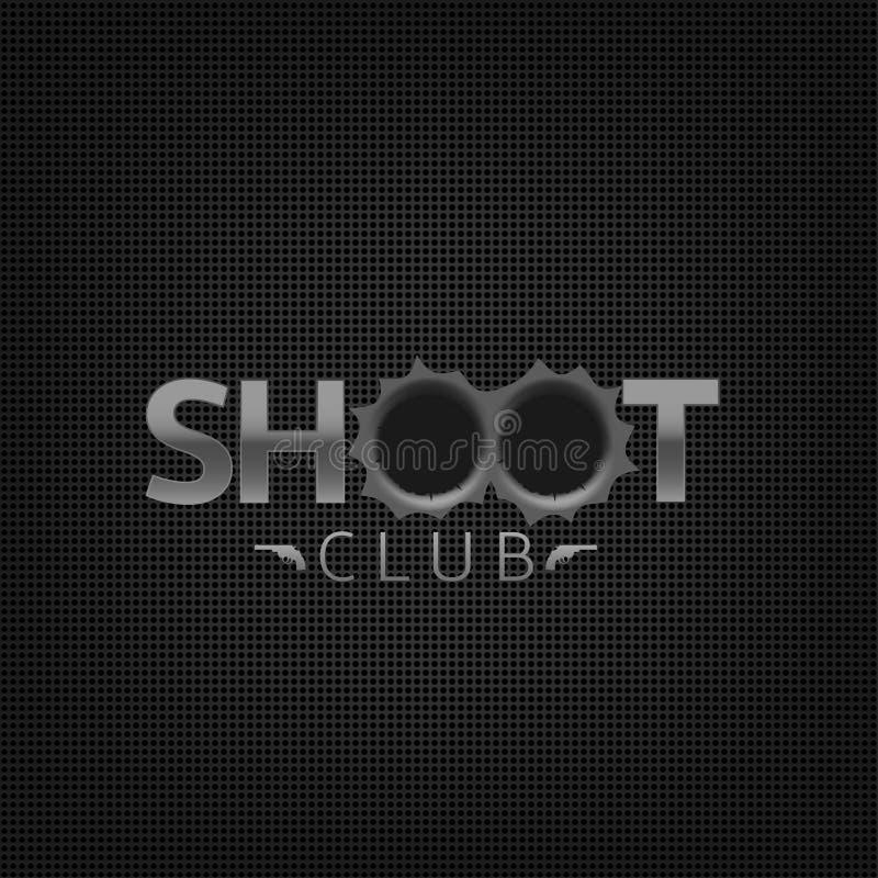 Emblema del club del lanzamiento fotografía de archivo libre de regalías