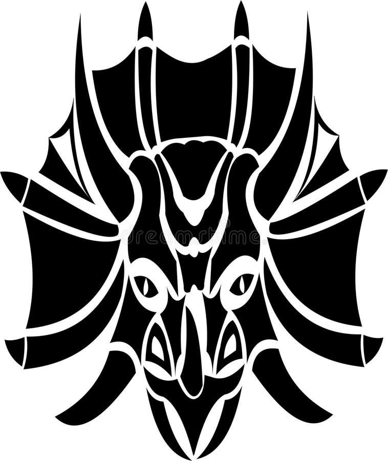 Emblema del dinosaurio del logotipo del Triceratops ilustración del vector