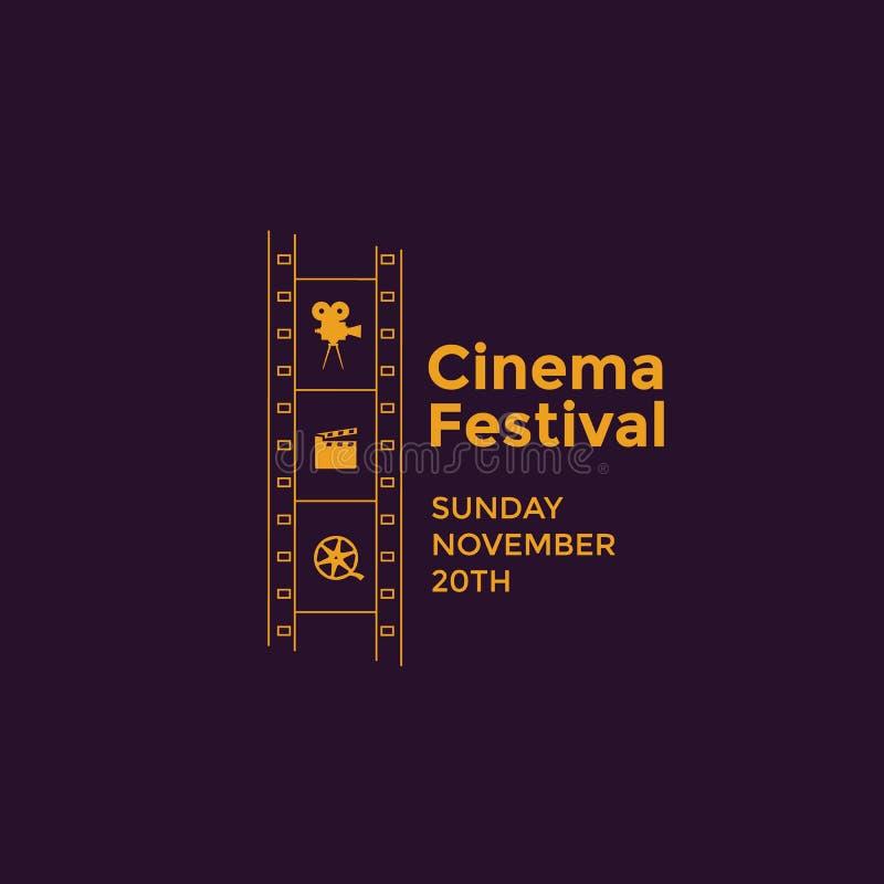 Emblema del festival del cine libre illustration