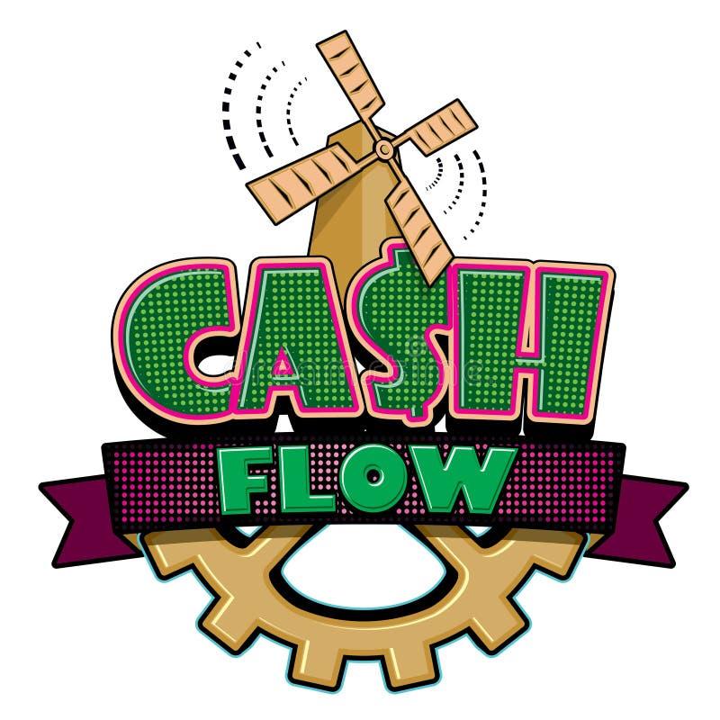Emblema del flujo de liquidez stock de ilustración