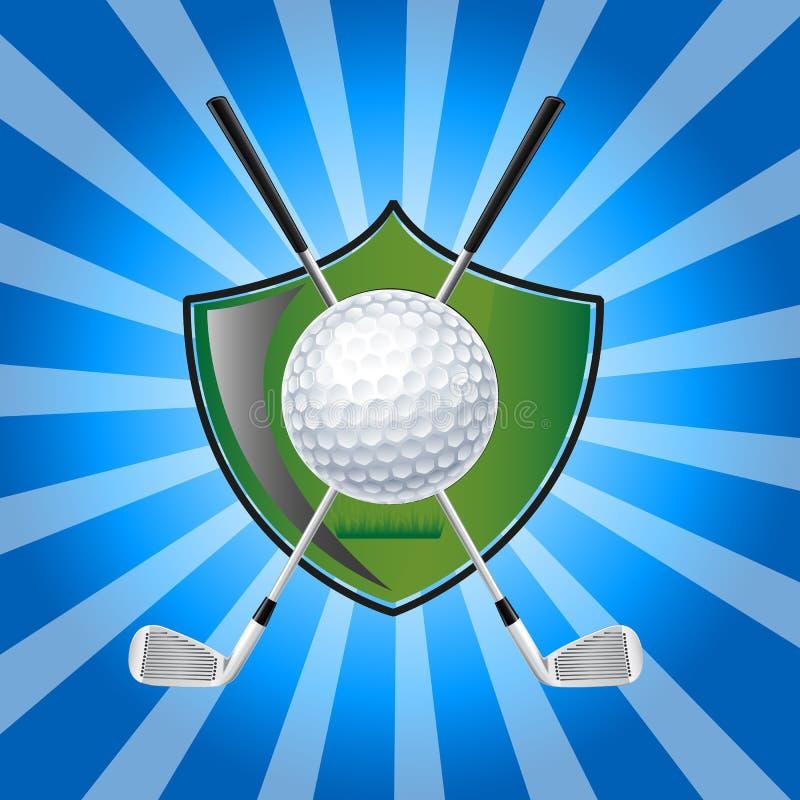 Emblema del golf libre illustration