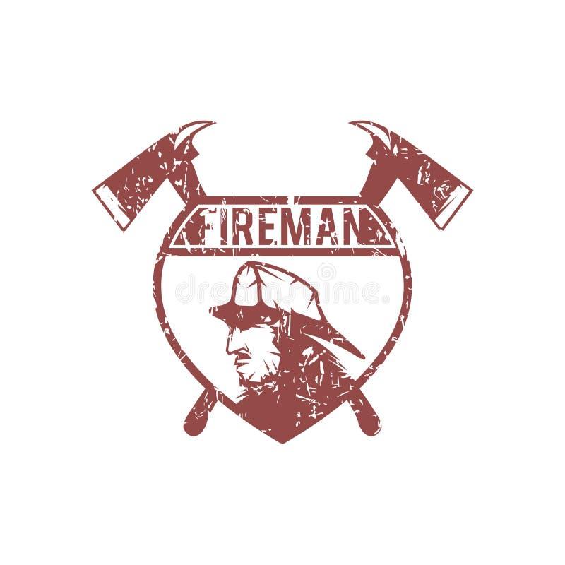 Emblema del Grunge del cuerpo de bomberos libre illustration