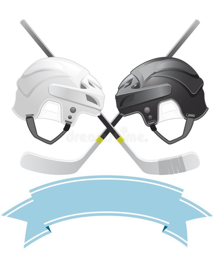 Emblema del hokey di ghiaccio illustrazione di stock