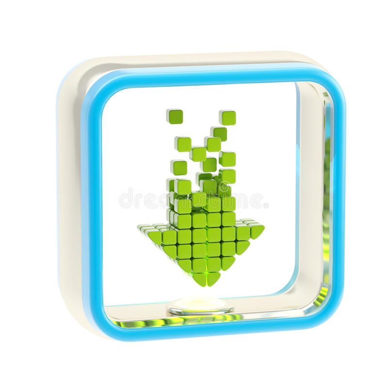 Emblema del icono de la aplicación de la transferencia directa aislado stock de ilustración