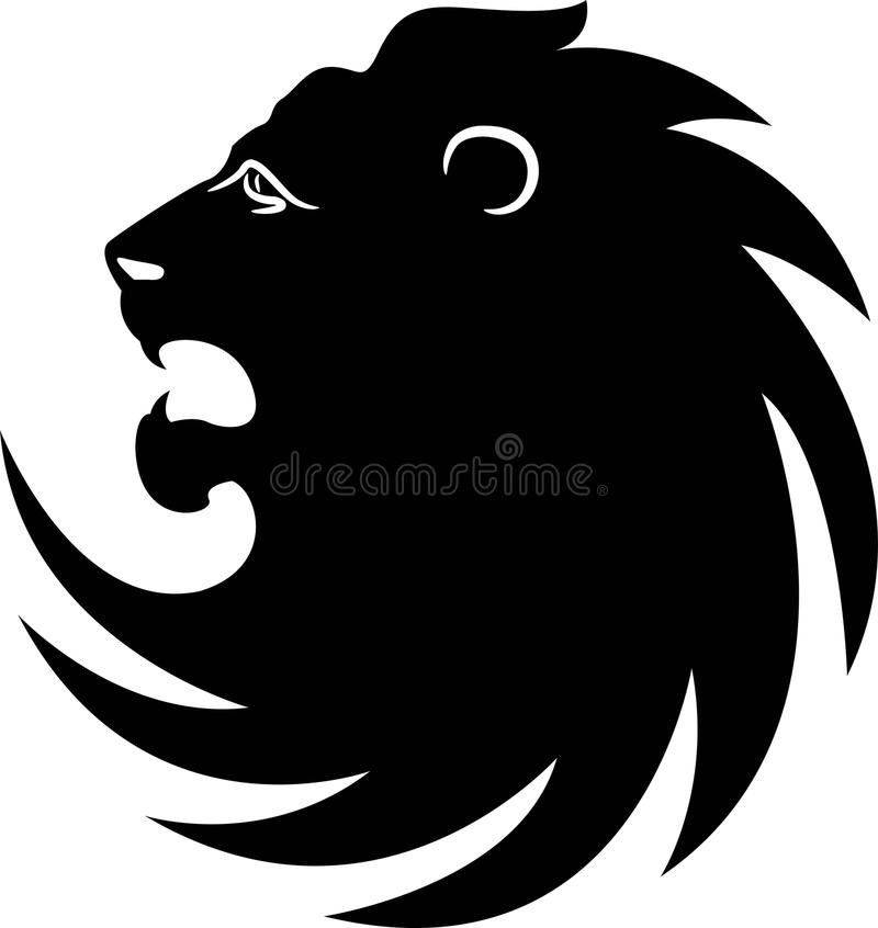 Emblema del leone illustrazione di stock