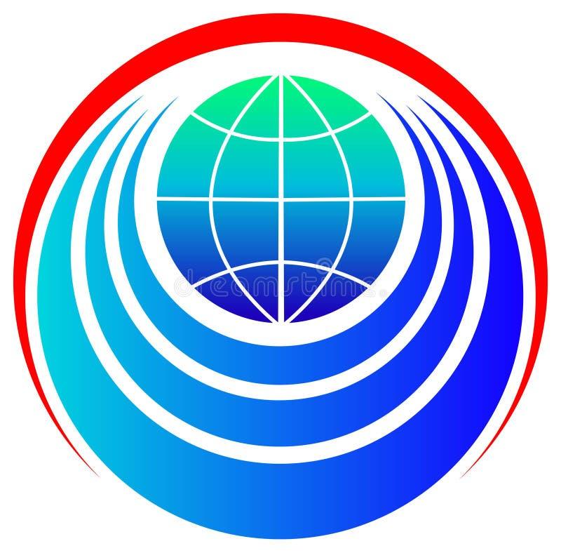 Emblema del mundo stock de ilustración