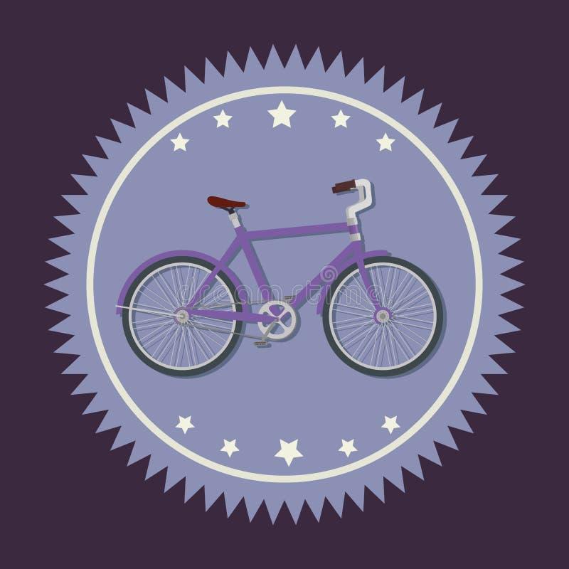 Emblema del negozio della bicicletta per mettere in mostra veicolo illustrazione di stock