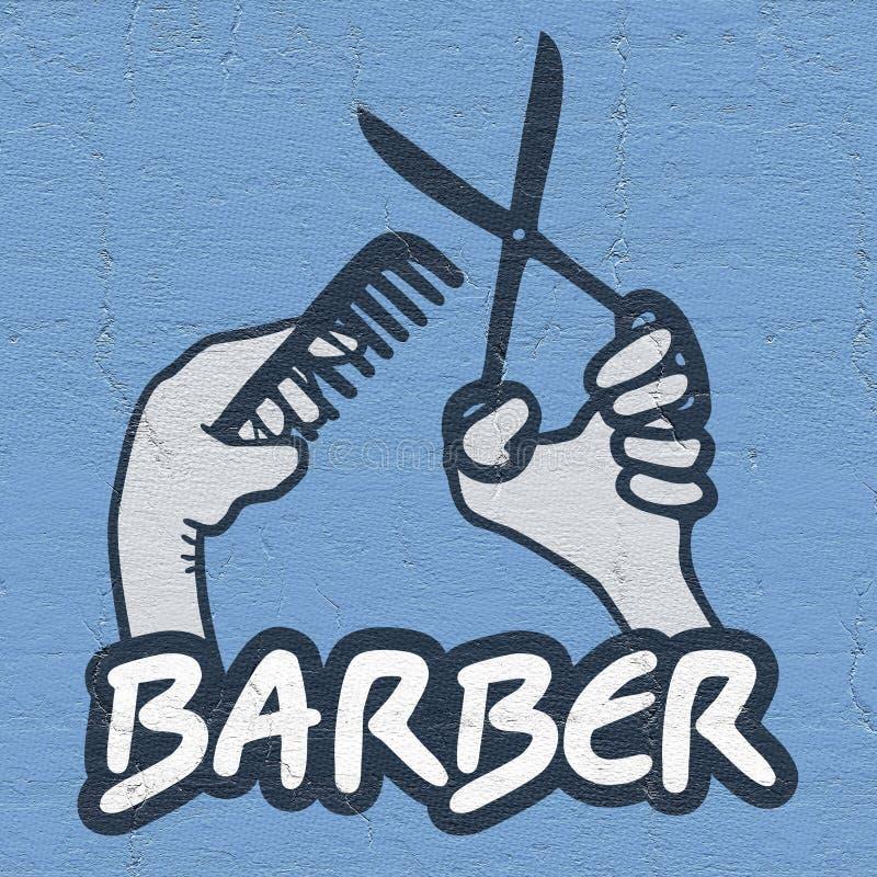 Emblema del peluquero libre illustration