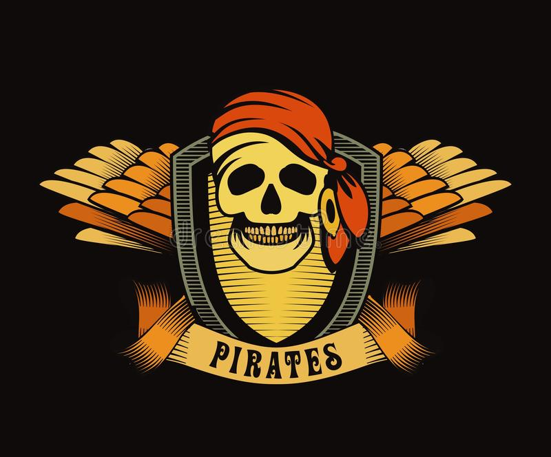 emblema del pirata illustrazione di stock