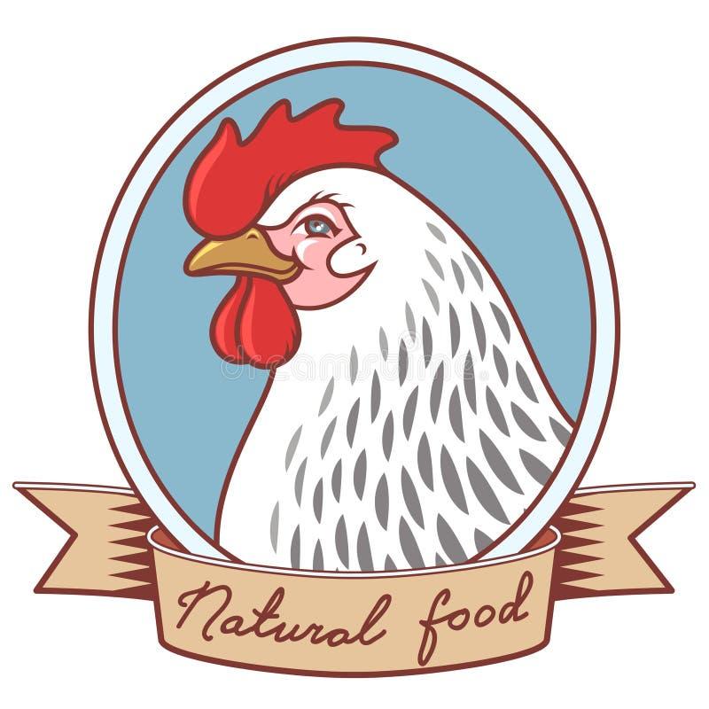 Emblema del pollo ilustración del vector