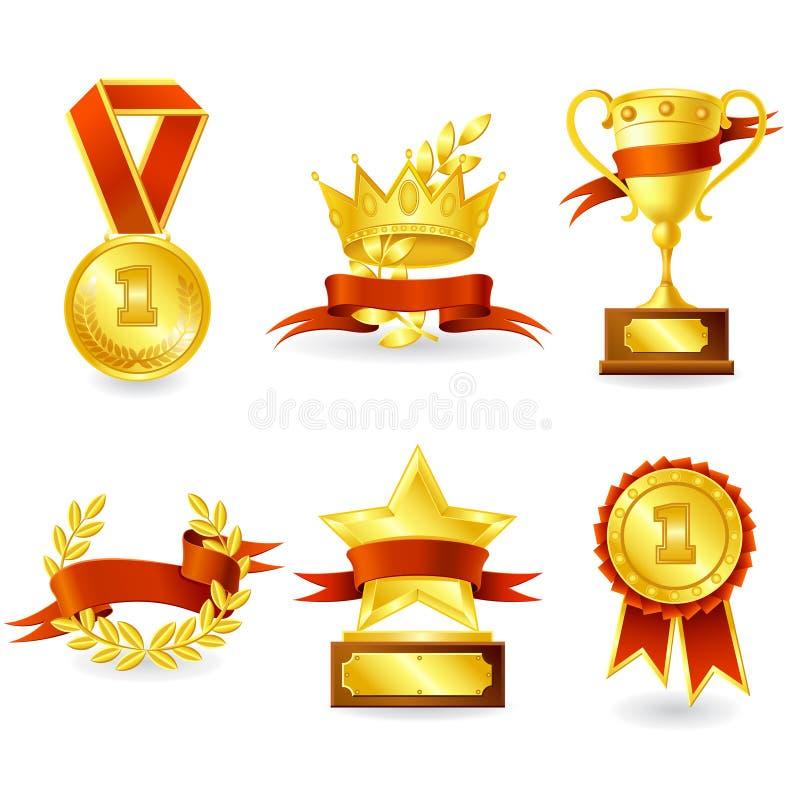 Emblema del premio e del trofeo illustrazione vettoriale