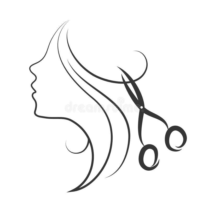 Emblema del salone di bellezza royalty illustrazione gratis