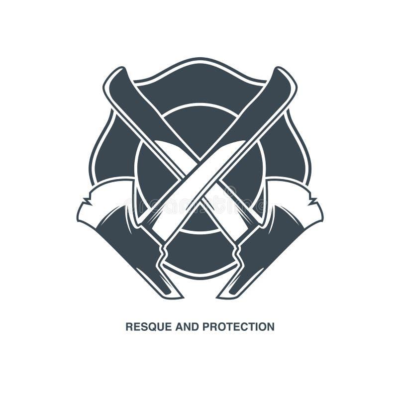 Emblema del vector de los bomberos fotos de archivo libres de regalías