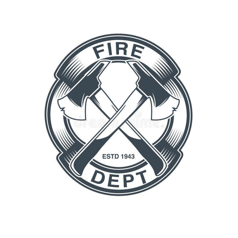 Emblema del vector de los bomberos foto de archivo