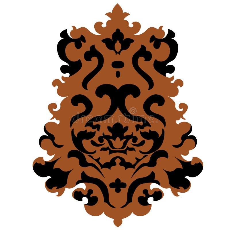 Emblema del vector en estilo clásico con los rizos libre illustration