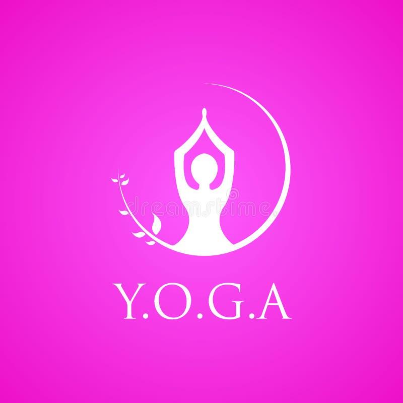 Emblema del vector del logotipo de la yoga libre illustration