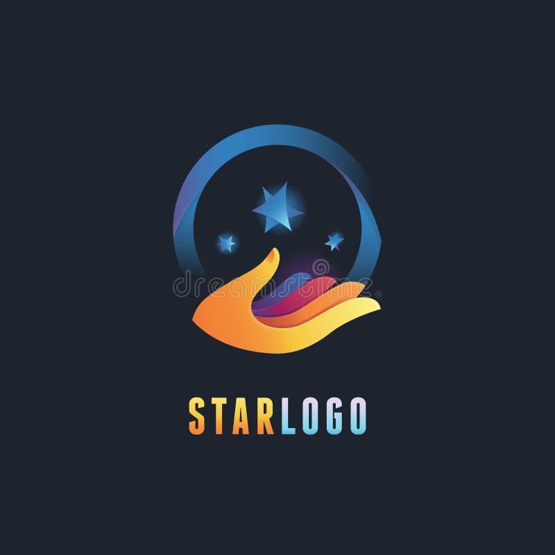 Emblema del vector y plantilla abstractos del diseño del logotipo ilustración del vector