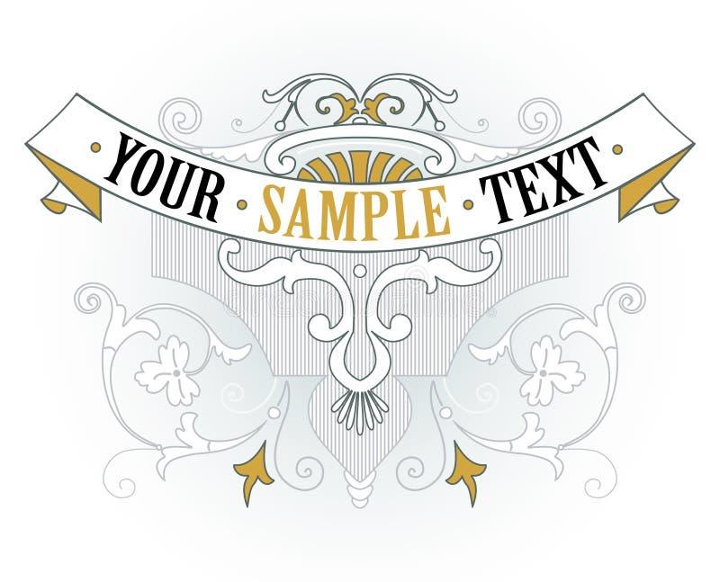 Emblema dell'oro dell'annata royalty illustrazione gratis