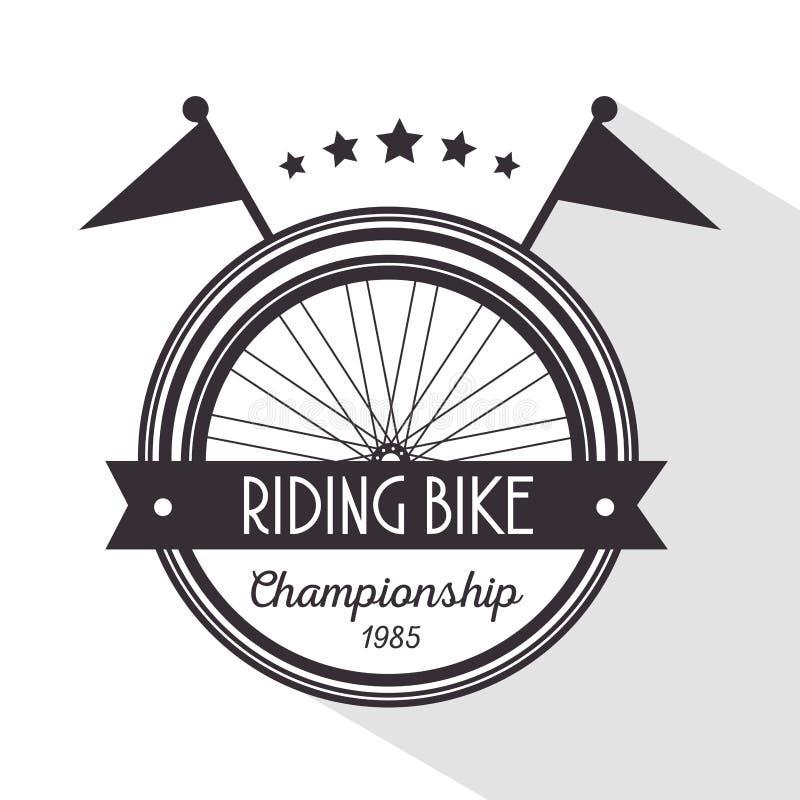 Emblema della bicicletta per sostenere sport della nave illustrazione vettoriale
