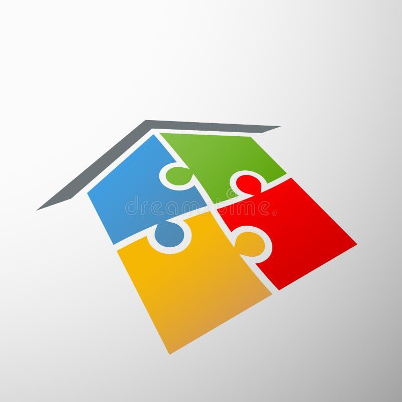 Emblema della casa illustrazione di stock
